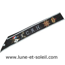 REAA Cordon 30e degré CKH avec couronne, croix, glaives et drapeaux Import
