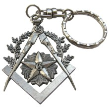 Porte clés compas équerre G étoile, acacias