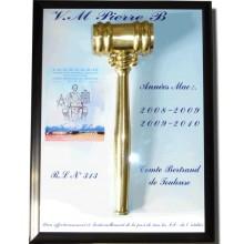 Maillet Bronze & Plaque Personnalisée Cadeau VM/PM/Dignitaire