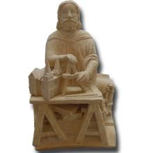 Maître Architecte Statuette en pierre reconstitutée