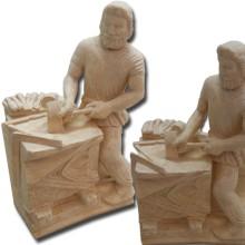 Tailleur de Pierre Statuette en pierre reconstitutée