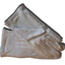 Gants blancs coton 3 griffes intérieur à picots
