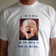 """Tee-shirt """"J'ai trois ans"""""""