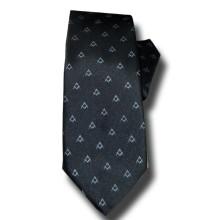 Cravate compas équerres ton sur ton