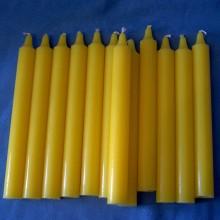 Bougies jaunes lot de 12