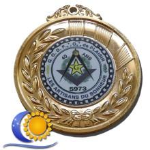 Médaille de loge cadeau visite Recto + Verso