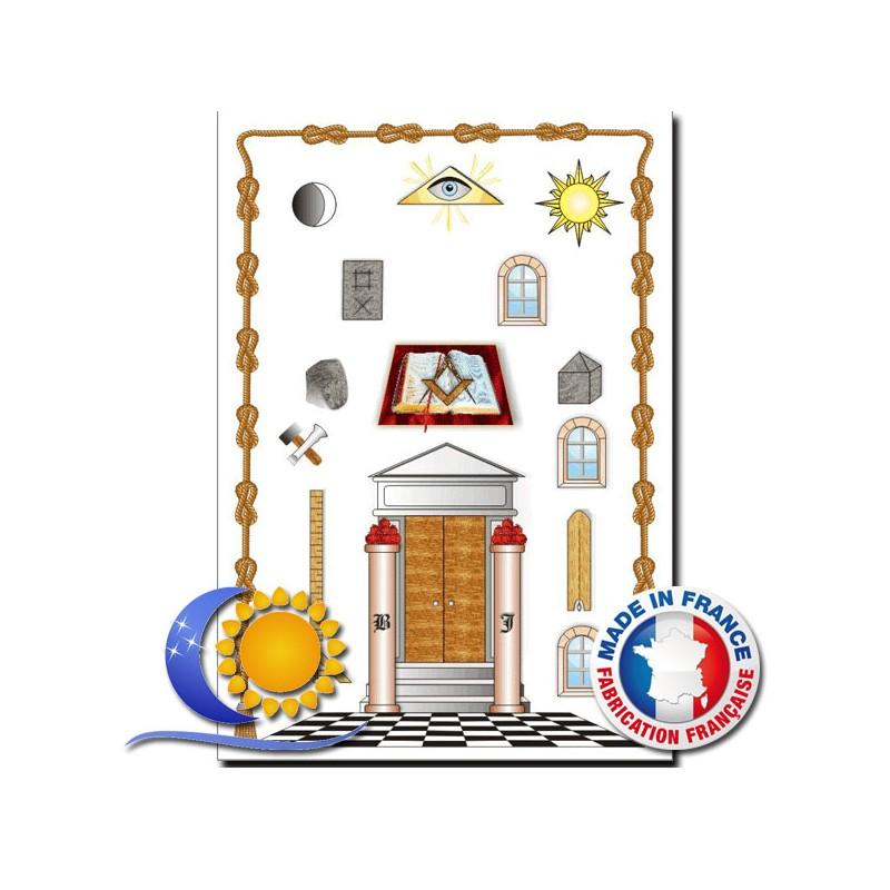 Très Tableau de loge 1er degré REAA chez Lune et Soleil Fabriquant et im UV08