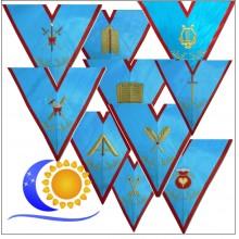 Jeu de 10 Sautoirs Officiers REAA Colonne harmonie incluse