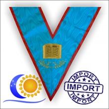 REAA Sautoir brodé fonction officier orateur Import