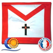 REAA Tablier 18e degré croix latine et rose
