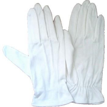 Gants blancs uni coton 3 griffes