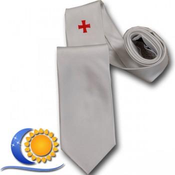 Cravate Blanche CBCS avec croix d'ordre