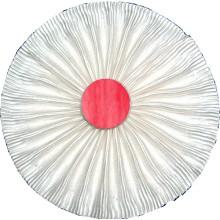 Rosette blanche à bouton rouge