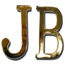 Lettres J et B en laiton