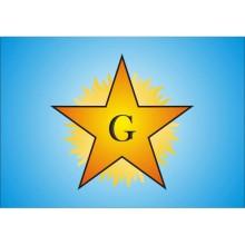 Étoile flamboyante lettre G rétro éclairée
