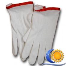 Gants blancs Haut de gamme en coton liseré rouge CBCS