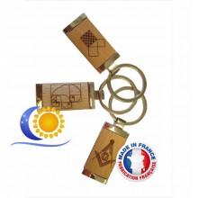 Porte-clé gravures maçonniques personnalisable