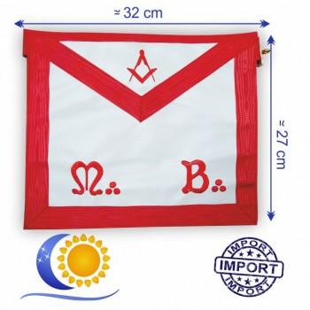 REAA Tablier de Maitre simili MB compas equerre simili 32 x 27 (PM) Import