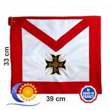 REAA 18e degré tablier bords carrés croix ancrée 8 pointes