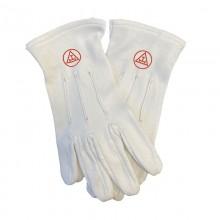 Gants blancs Arche Royale uni coton 3 griffes