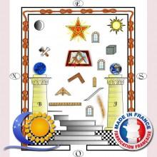 Tableau de loge 2e degré REAA