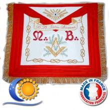 REAA Tablier de VM d'honneur, peau, frangé, modèle tradition
