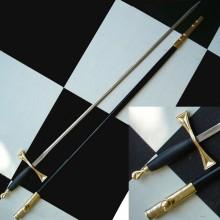Epée fine noire et or